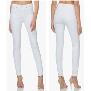 rag & bone High Rise Skinny Jeans in White